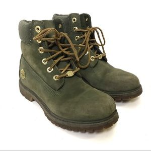 Timberland classic olive army green 200 gram primaloft boots 6.5